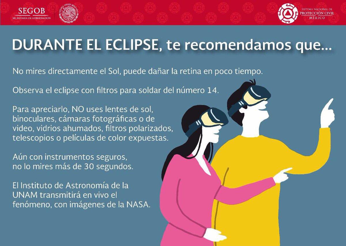 ¿Estás emocionado por el #eclipse 🌞de mañana? Sigue estas recomendacio...