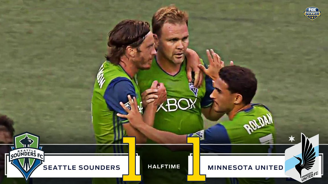 Minnesota scores first, but Seattle fights back to equalize before the half. #MLS #SEAvMIN https://t.co/yy3CGGeuF1