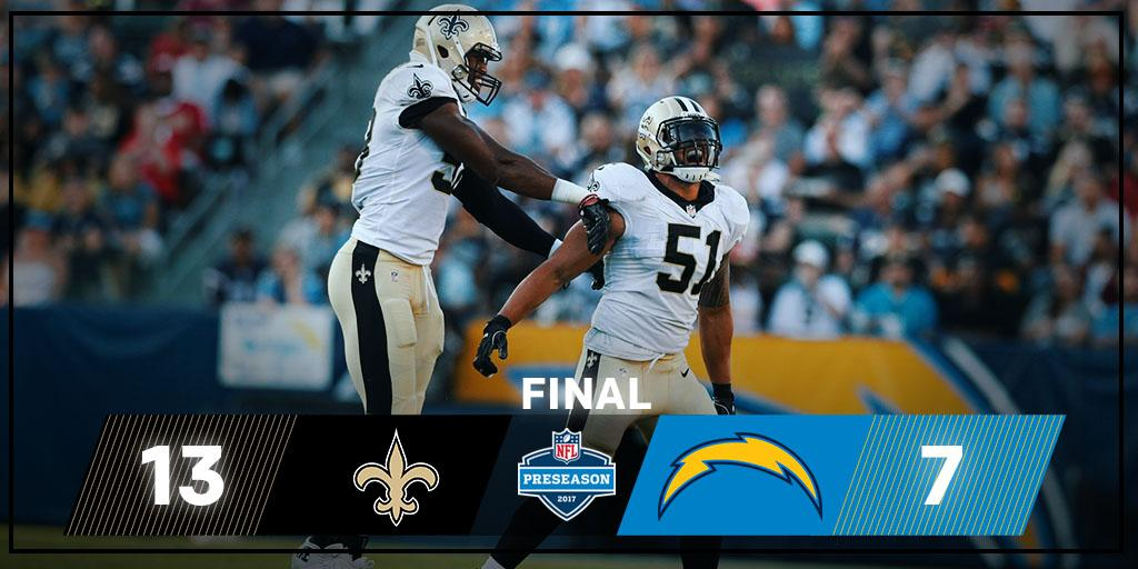 FINAL: The @Saints WIN! #NOvsLAC https://t.co/0MiaPEkYeT