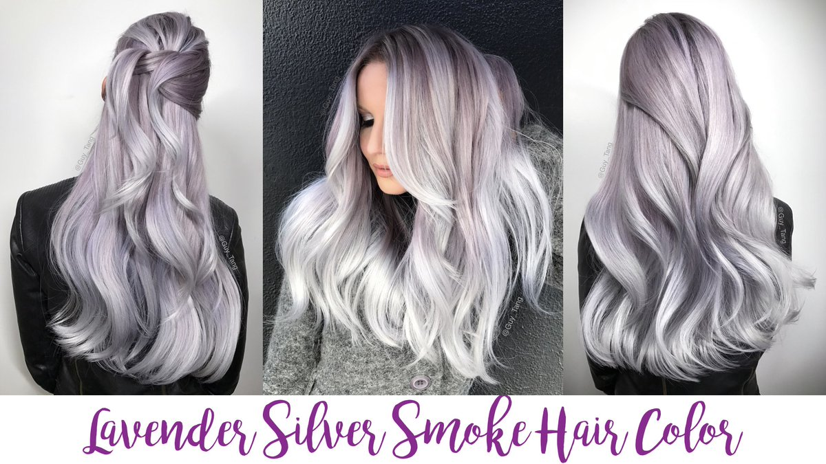 Guy Tang On Twitter Lavender Silver Smoke Hair Color Tutorial Up