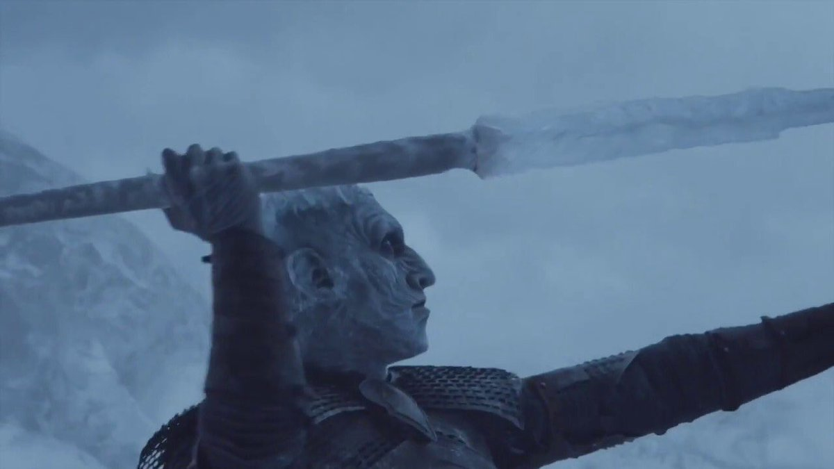 Anyone have the Night King's contact info so we can recruit him to throw javelin? #GameOfThrones
