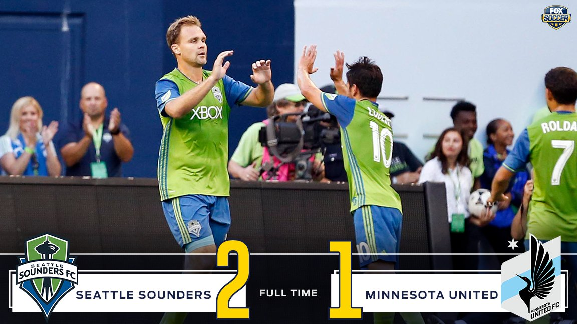 Clint Dempsey wins it for Seattle at the very end with a penalty. Heartbreak for Minnesota. #MLS #SEAvMIN https://t.co/I0zrb6P1iB