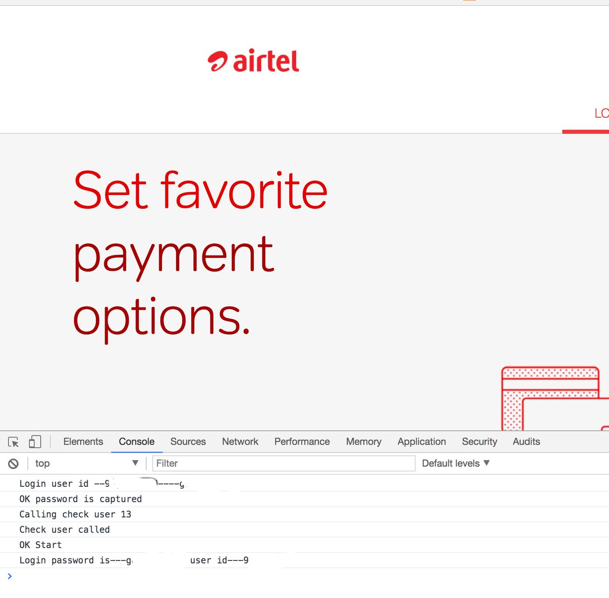 Have airtel account? Open the dev console and try logging in. See the magic in browser console log https://t.co/iY00fPrdDu