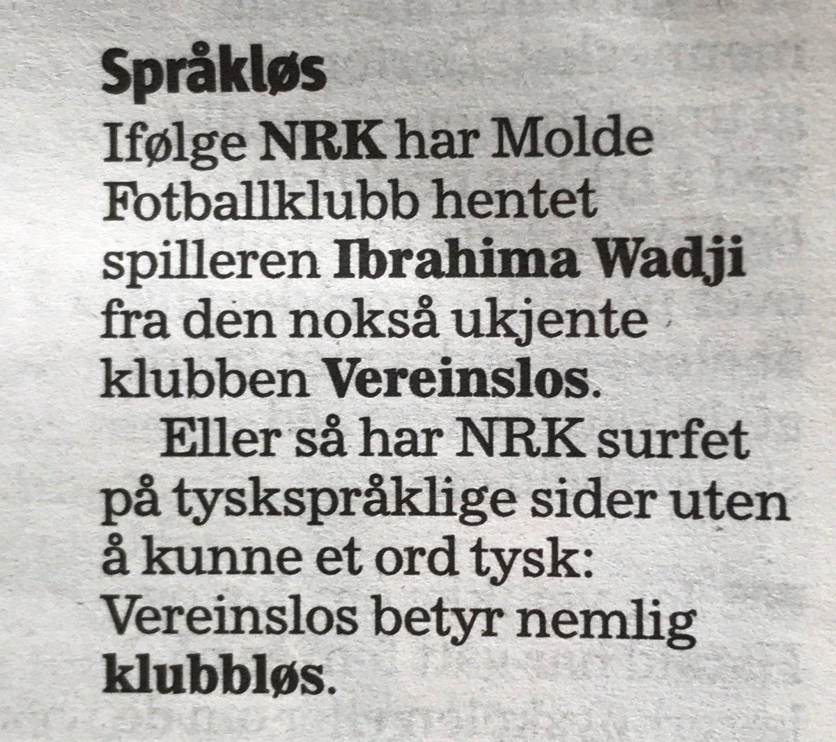 Hahaha, nydelig @NRK_Sport og @Klassekampen! #fotball @SillySeasonNOR #fail https://t.co/GZGGwlVEsf