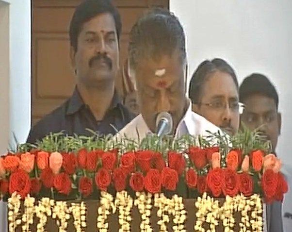 Chennai: O. Panneerselvam swears-in as D...
