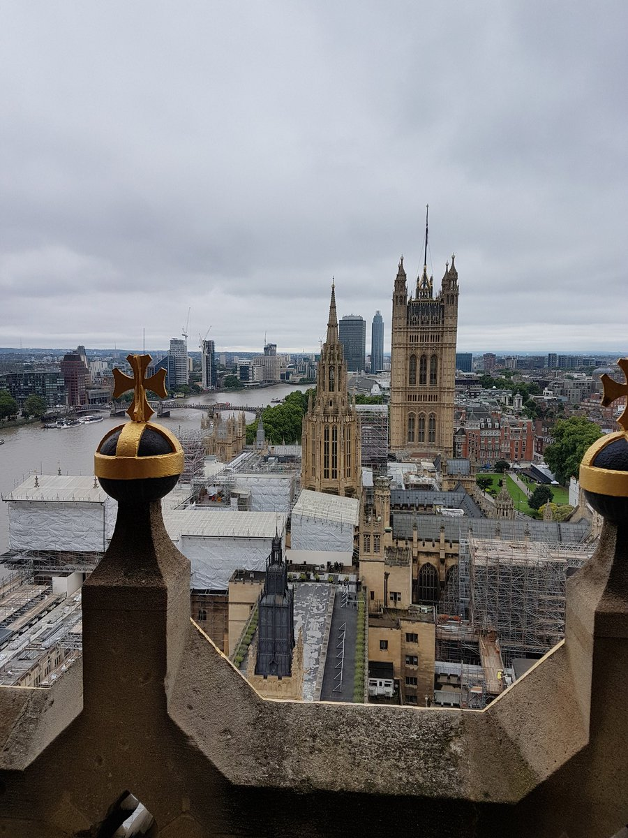 Up in the Elizabeth Tower to hear Big Ben's last chimes before major w...
