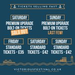 Saturday Premium Upgrade Bolt-On tickets are now sold out...! Remaining tickets here - https://t.co/34NZijbYbv