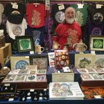 Here's Colin, selling a range of traditional goods. From t-shirts to badges! Pop along and say hello #hedinghamfair