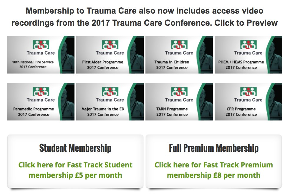 Join @TraumaCareUK as a valued member and get access to recordings from the 2017 #conference. Take a preview today   https://www. traumacare.org.uk/join-us  &nbsp;  <br>http://pic.twitter.com/e3Qg12GlCh
