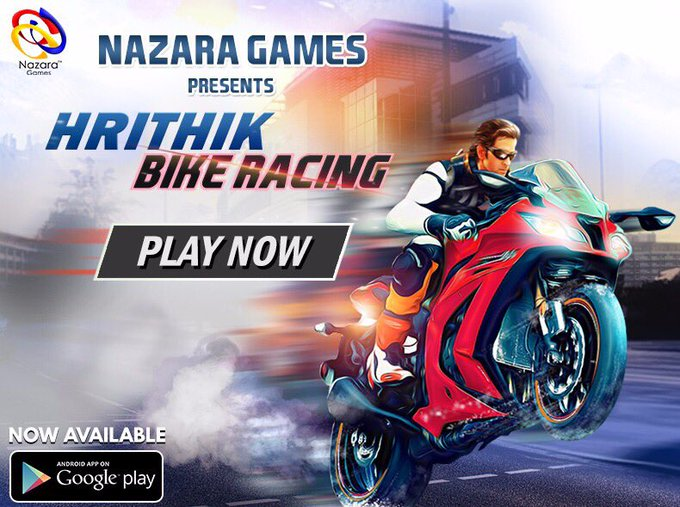Start your engines & throttle up as me in my new game #HrithikBikeRacing https://t.co/DJk6Mw3Iz0 @NazaraGames. Check it out! https://t.co/DLUZGTALBt