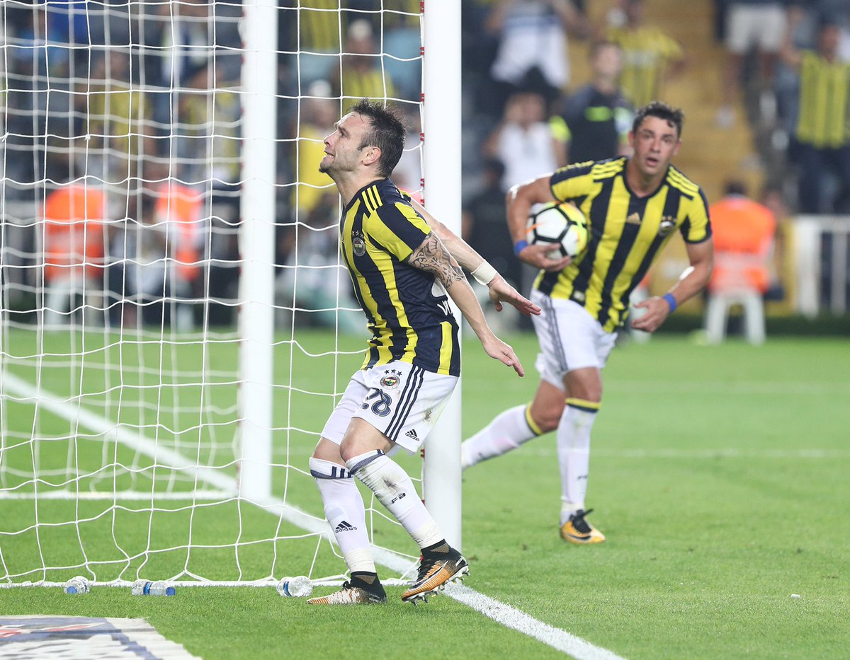 Fenerbahçe-Trabzonspor maçından bir kare...