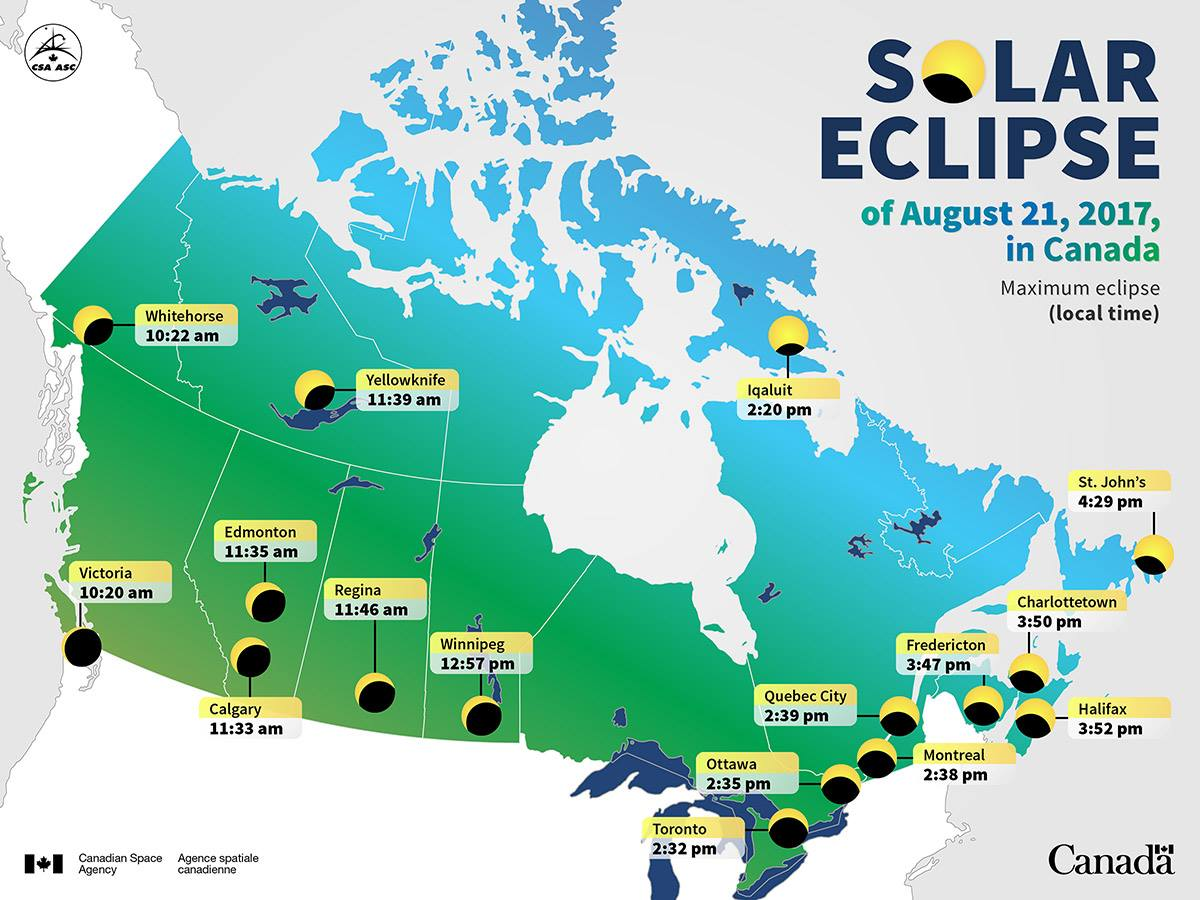 Map Of Canada Today.Ymca Canada On Twitter The Solareclipse Is Happening Today Aug 21