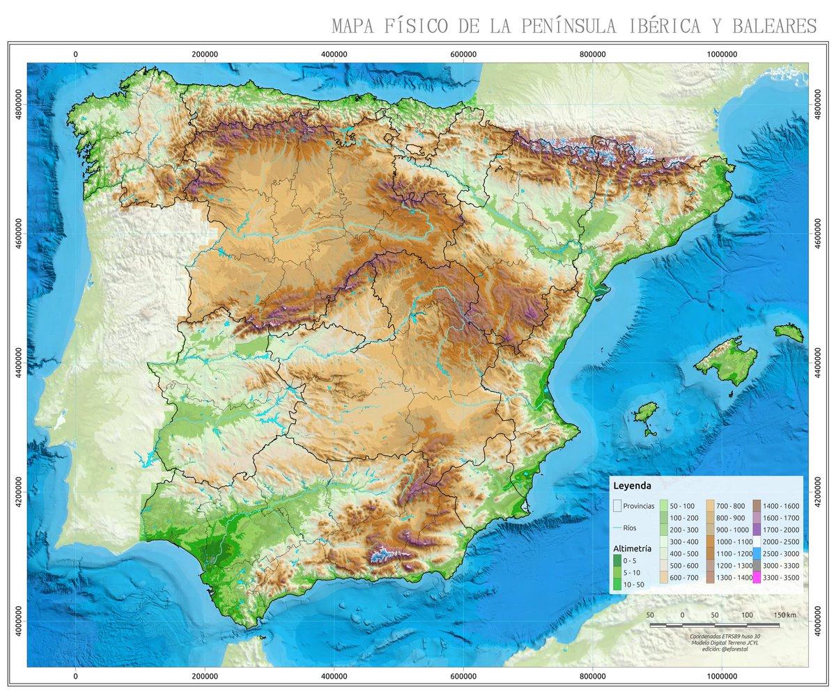 Educacion Forestal On Twitter Mapa Topografico Y Provincial De