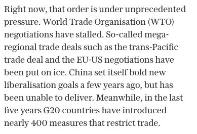 Some realism from Fox's new trade advisor. With free trade going into reverse, how easy will it be to cut new deals? https://t.co/tk6fKZCgpE