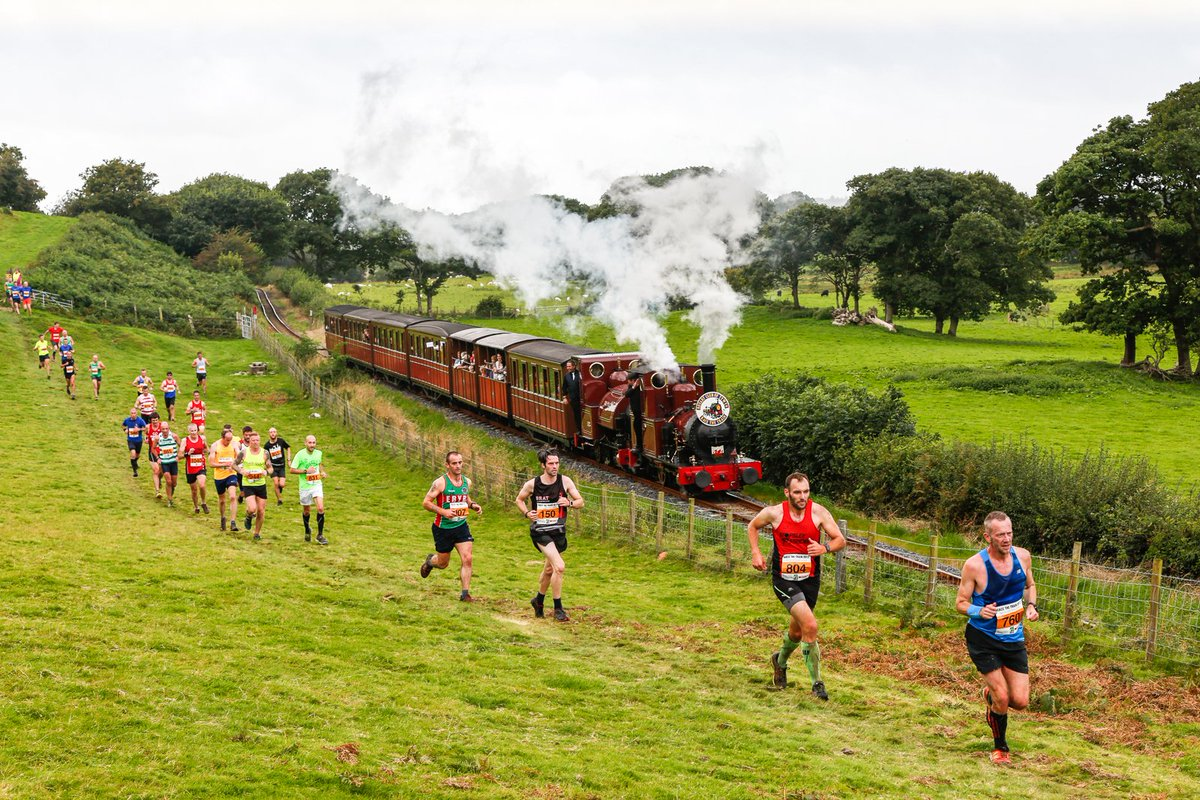 🚆🏃 Trainers v track: Barbara Fuller took our #picoftheday at the annual Race the Train run along the Talyllyn Railway in mid Wales