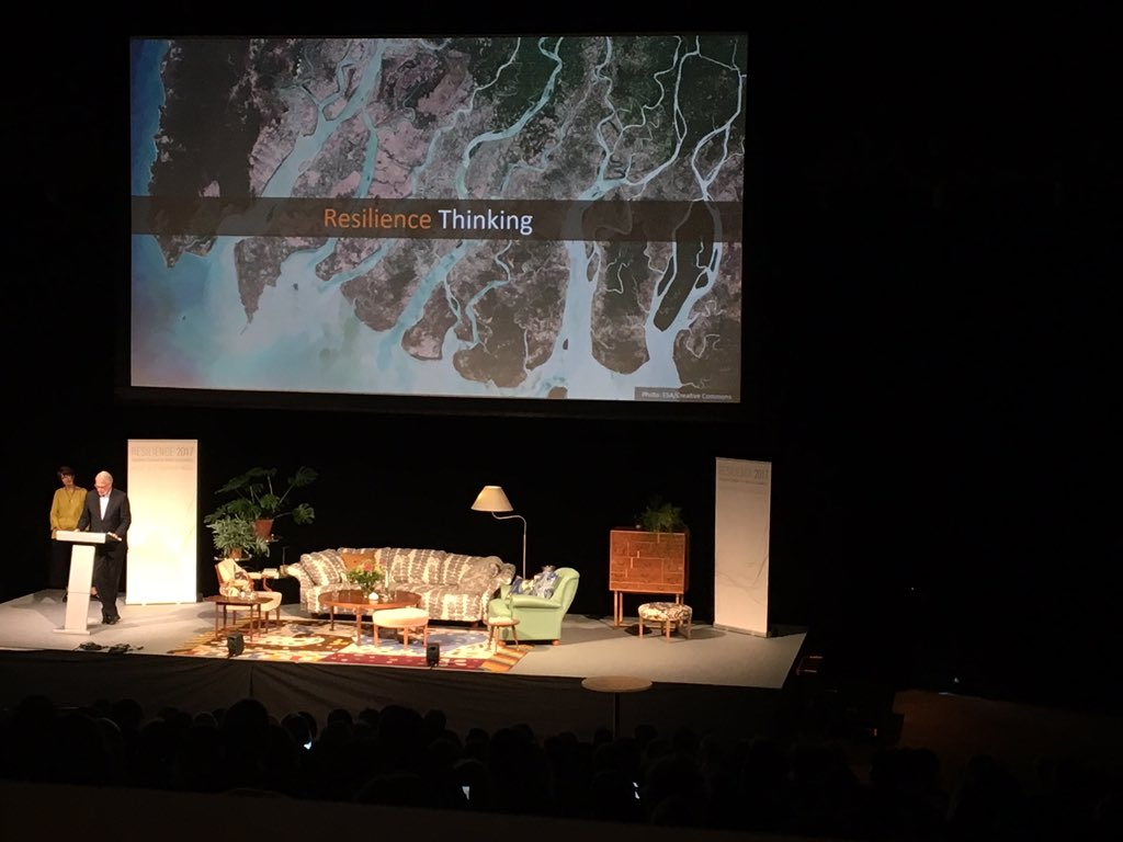 Carl Folke: We need #resilience for dealing with the &quot;unknown unknowns&quot; #ResFrontiers @ResilienceSTHLM<br>http://pic.twitter.com/eHqZdJGEzC