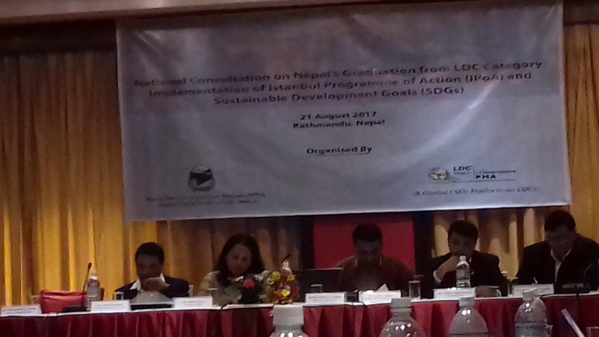 National Consultation on Nepal&#39;s graduation from LDC commenced. SDGs&amp;LDC&#39;s graduation both demand Gender Equality #sdg5 #feministvision<br>http://pic.twitter.com/iOZ8HcH5oL