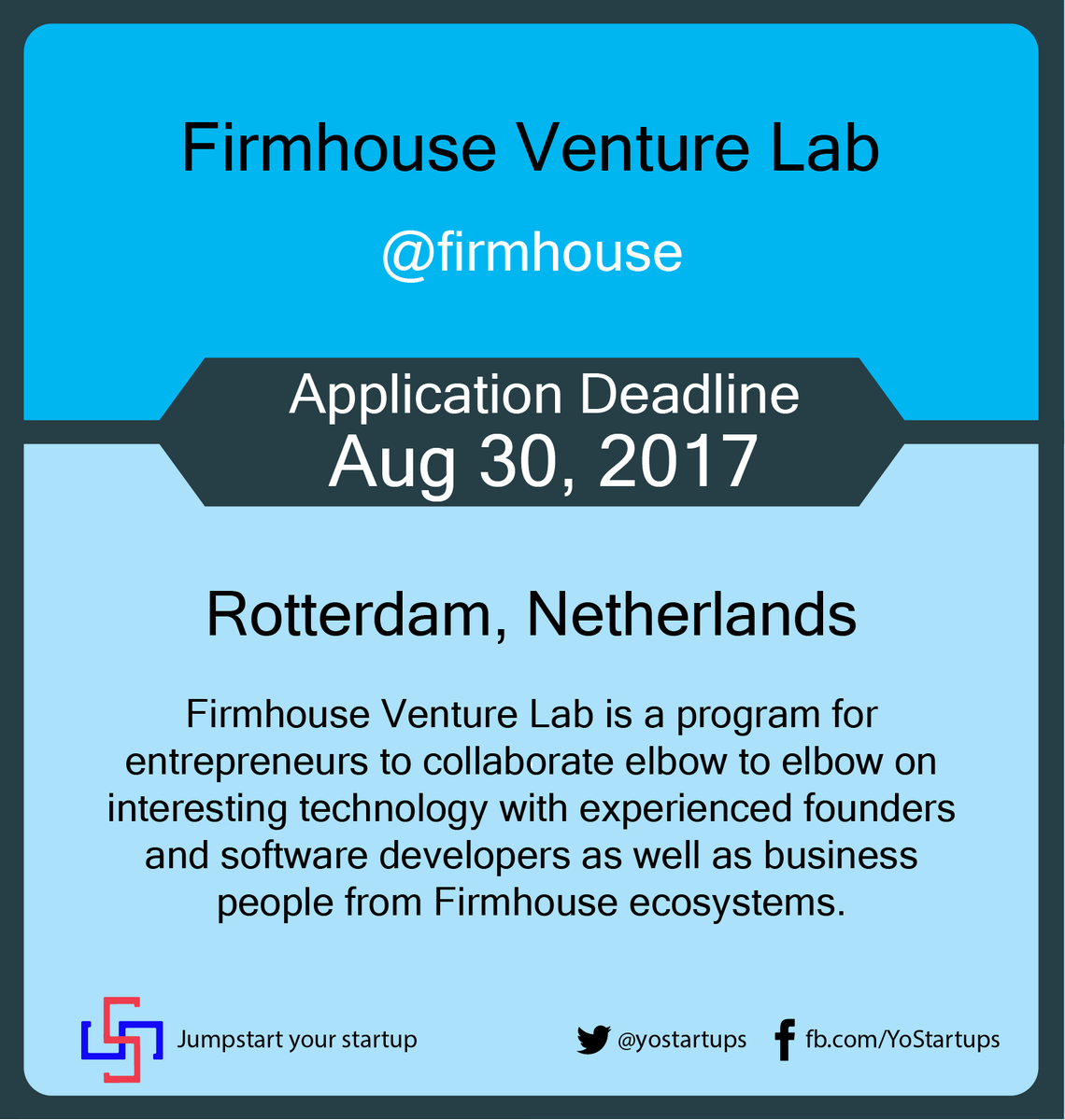 Checkout @firmhouse fast tracking startups to produce useful software for business problems #accelerator #Yostartups  https:// goo.gl/GL2ZFe  &nbsp;  <br>http://pic.twitter.com/zpigPeAoSc