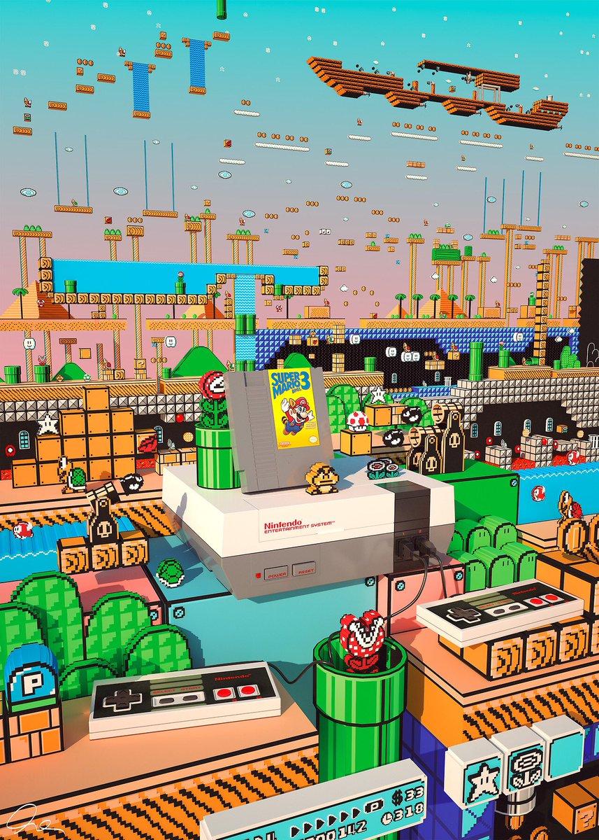 Super Mario 3 World! #retrogaming #gaming #classicgaming #nes #Nintendo #mario #art #gamersunite <br>http://pic.twitter.com/dgh5KJpeQu