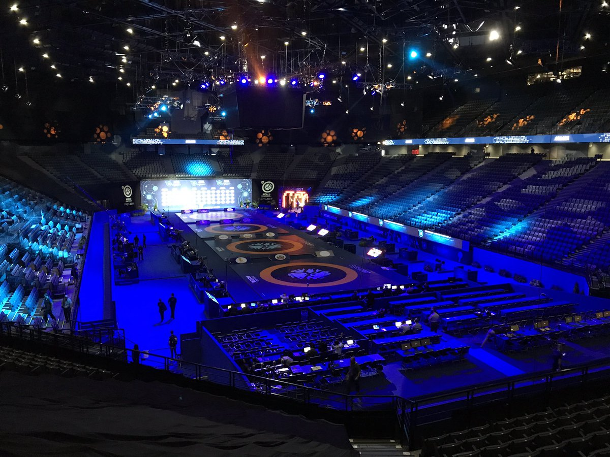 Wrestling will begin shortly in Paris for the 2017 World Championships...