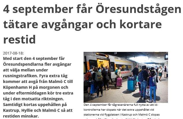 Greater Copenhagen On Twitter Tätare Avgångar Och Kortare Restid