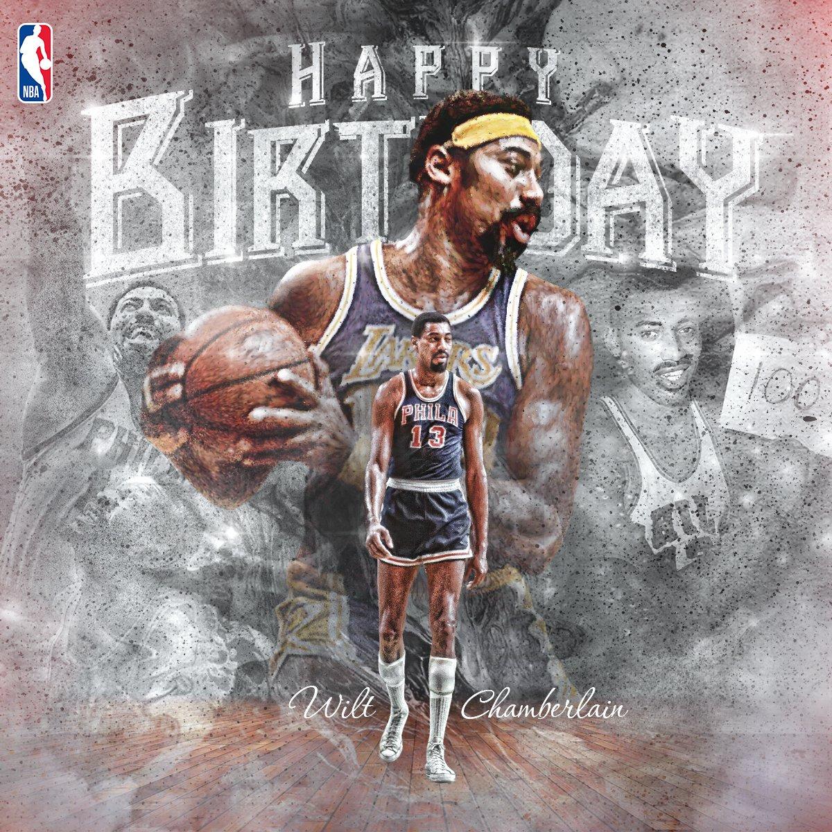 8/21はウィルト・チェンバレンの誕生日(1936年生まれ。生きていれば81歳でした)。1試合100得点、シーズン平均50.4得点など数々の伝説を残したNBA史に輝くレジェンドです(1999年10月に63歳で没) #NBA #NBAjpj#NBABdayp Bday