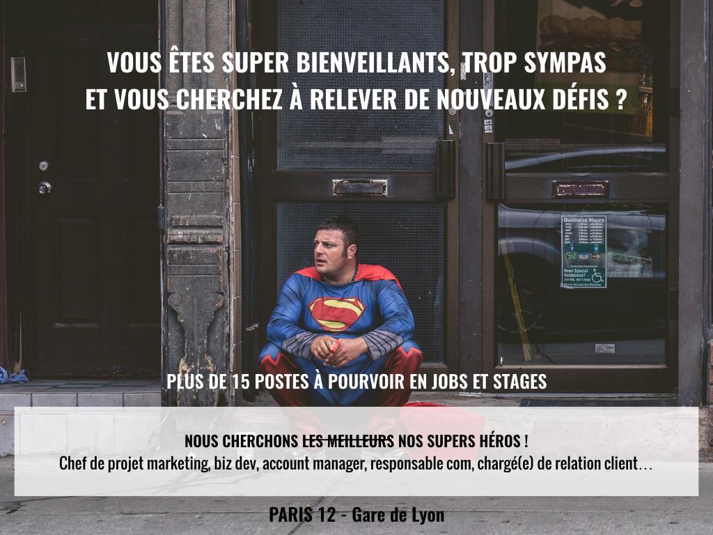 [PARIS HELPLINE recrute]    https:// thecityhelplineishiring.typeform.com/to/BjQFfM  &nbsp;   #startup #innovation #tourism #recrutement #dreamteam #joinus<br>http://pic.twitter.com/jia8l8PPW2