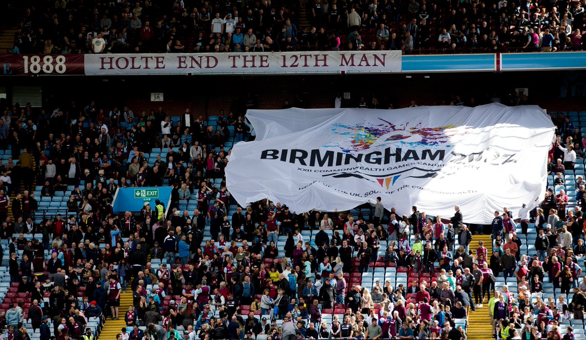 Aston Villa On Twitter Great To Show Our Support For The Birminghamcg22 Bid On Saturday With This Giant Flag Surfing Over The Holte End Avfc Https T Co Al9erqmhbg