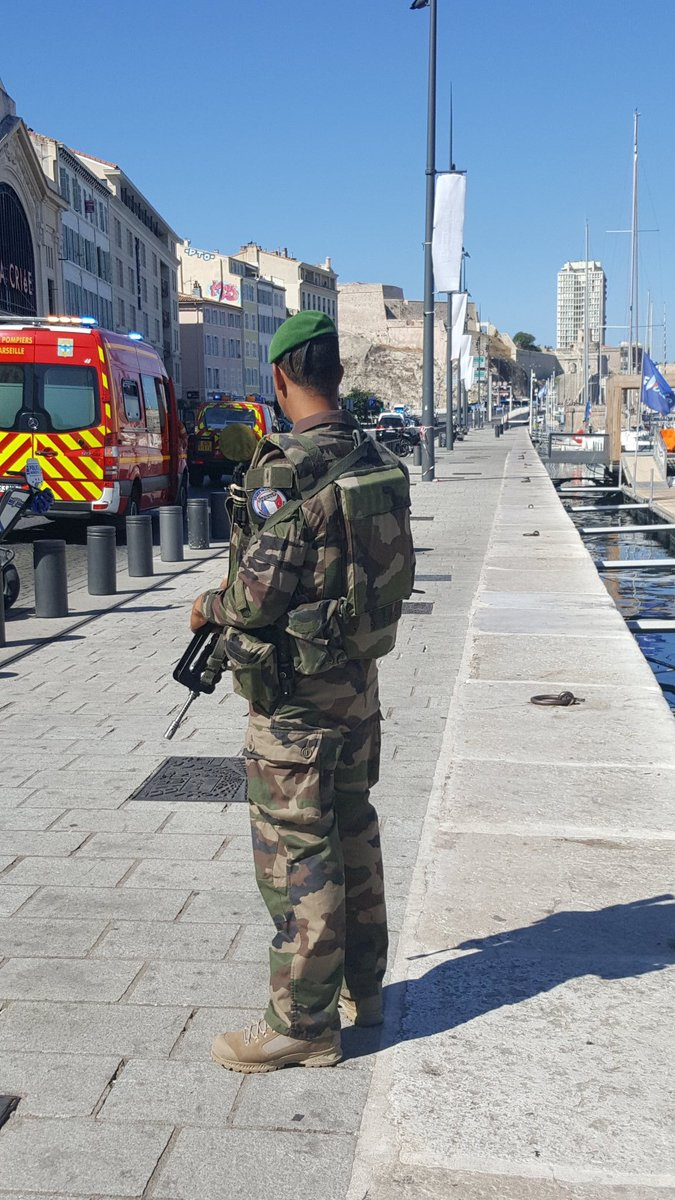 #French army on scene where a car rammed into two buses, police have n...