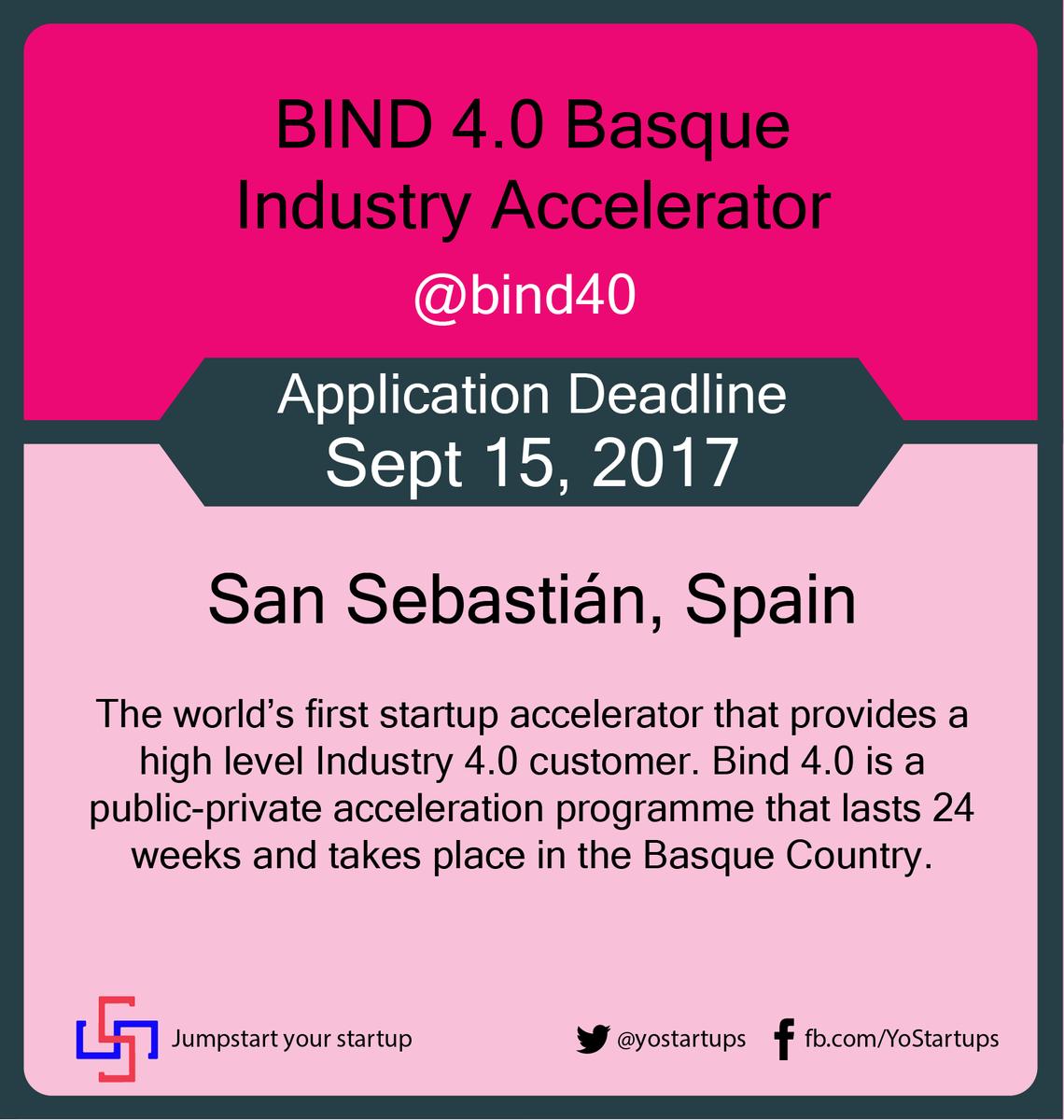 Checkout @bind40 focused on scaling up Industry 4.0 startups #accelerator  #YoStartups  https:// goo.gl/Njte1k  &nbsp;  <br>http://pic.twitter.com/BjH1Ey5lCP