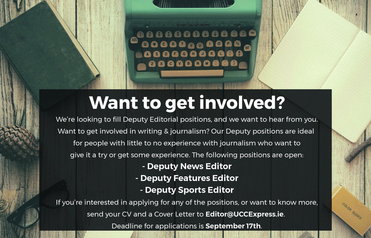 Accepted a CAO offer for @UCC and have an interest in journalism? We want you! We&#39;re hiring our Deputy Editors #CAO #Journalism<br>http://pic.twitter.com/NeEiBwy079