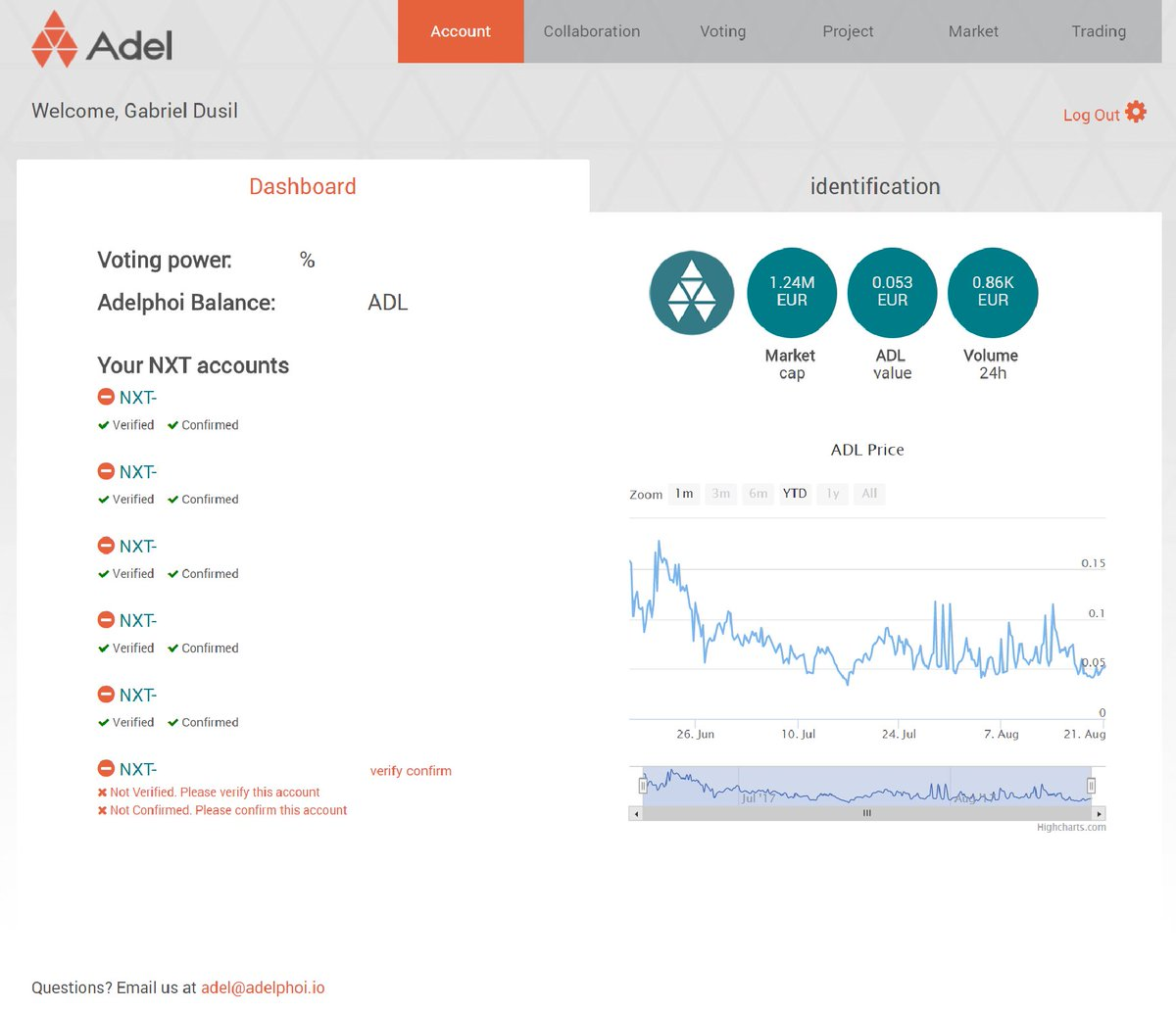 #Adel announces new Account Module for #Idea #Incubation #I2P2E2 #Startup #Incubator #Accelerator  #Trading Register at adelphoi.io<br>http://pic.twitter.com/6HgXxX2i5y