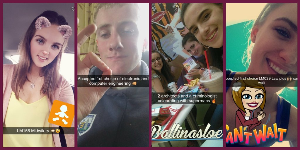 We&#39;ve been receiving snapchats all day from our future students #StudyAtUL who got their #CAO2017 offers today.<br>http://pic.twitter.com/CB3biBpo5k
