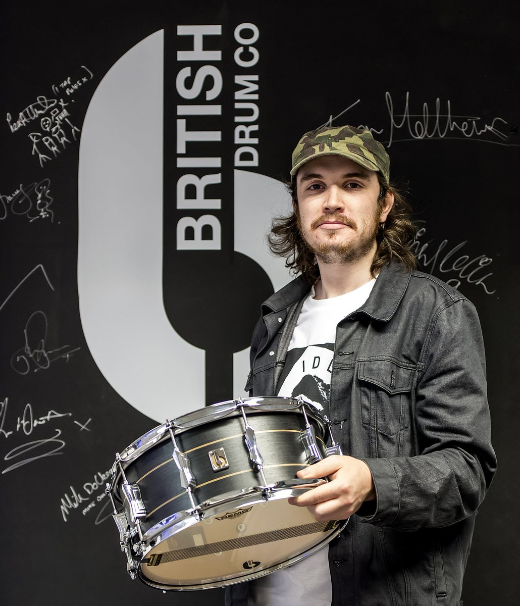 Asa from @ahcabbage popped in today to collect his new Merlin Snare. #drums #drummer #manufacturers #handmade<br>http://pic.twitter.com/y4HG0HSuDU