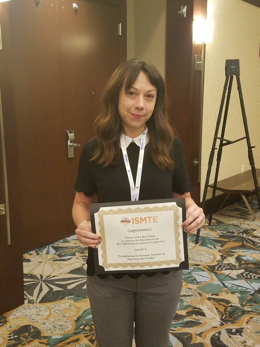 Our own Meaghan Kelly won the audience vote, 3rd place overall for her poster at the ISMTE NA meeting! #ISMTE2017  http://www. ismte.org/page/2017Poste rs &nbsp; … <br>http://pic.twitter.com/WZPj6QlCTL