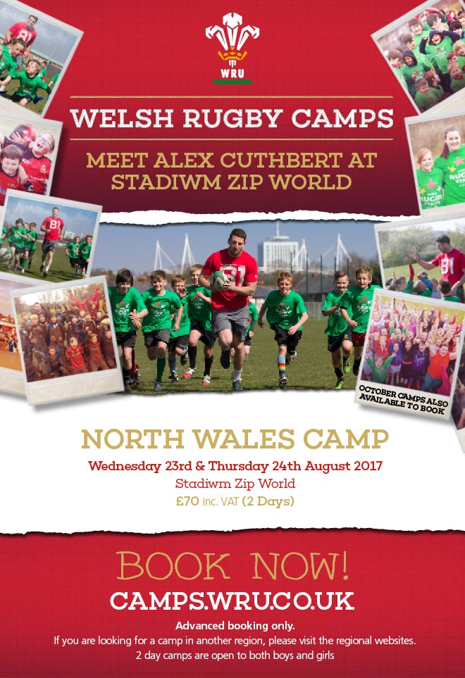 Catch Wales & Cardiff Blues wing Alex Cuthbert  whe@ParcEiriasn camps kick off in North Wales this week. BOOK NOW: https://t.co/GJKRI9eKzM