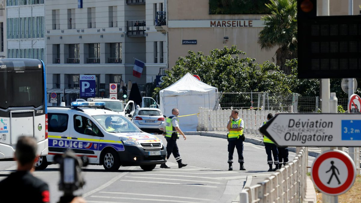 Vehicle rams bus stops in Marseille, France, killing one https://t.co/epfDMyvs36