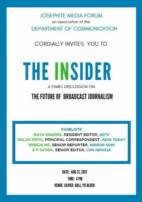 Panel discussion on &#39;The Future of Broadcast Journalism&quot; -  For more, join #sjc room on #R (  http:// bit.ly/2wmeRdx  &nbsp;   )<br>http://pic.twitter.com/tzTfKFOP90