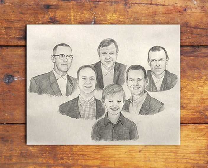 The beautiful #PencilSketch of Father&#39;s generation Sketch was done by our Artist. Order you portrait at  http:// bit.ly/2kD4yMH  &nbsp;  . #giftsideas <br>http://pic.twitter.com/yIGB9efGz7