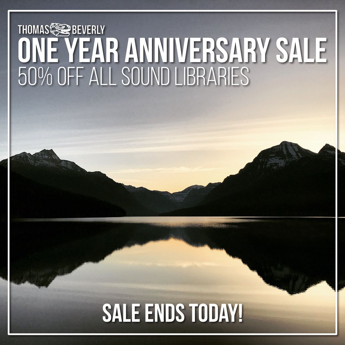 Sale Ends Today! One Year Anniversary Sale – 50% off all sound libraries. #sounddesign #GameAudio #gamedev #sfx  https:// thomasrexbeverly.com / &nbsp;  <br>http://pic.twitter.com/lCIH0aHZDi