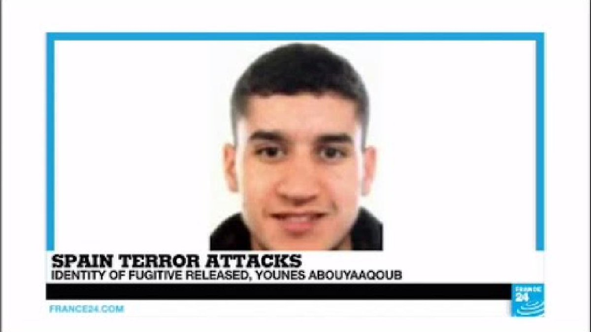 ▶️ Spain Terror Attacks: Identity of fugitive released, Younes Abouyaa...