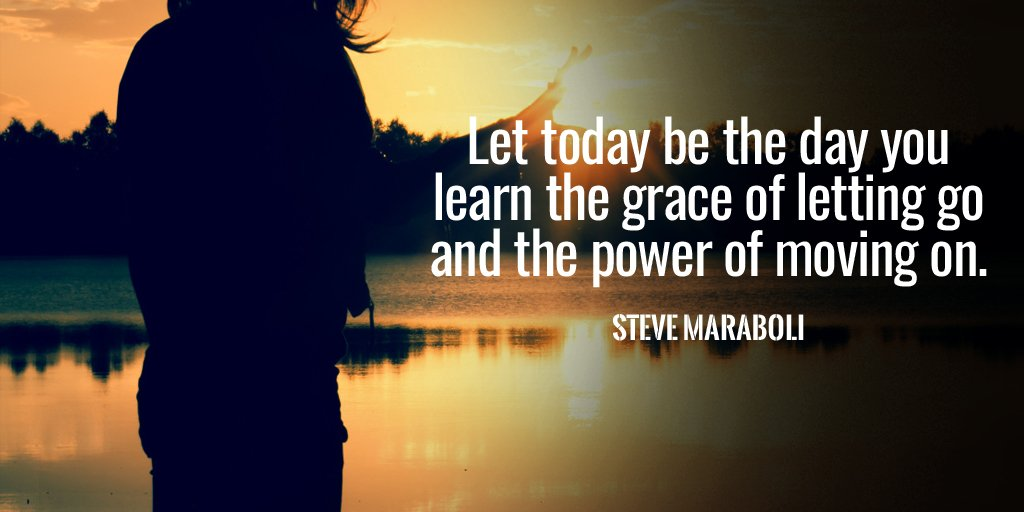 Let today be the day you learn the grace of letting go and the power o...