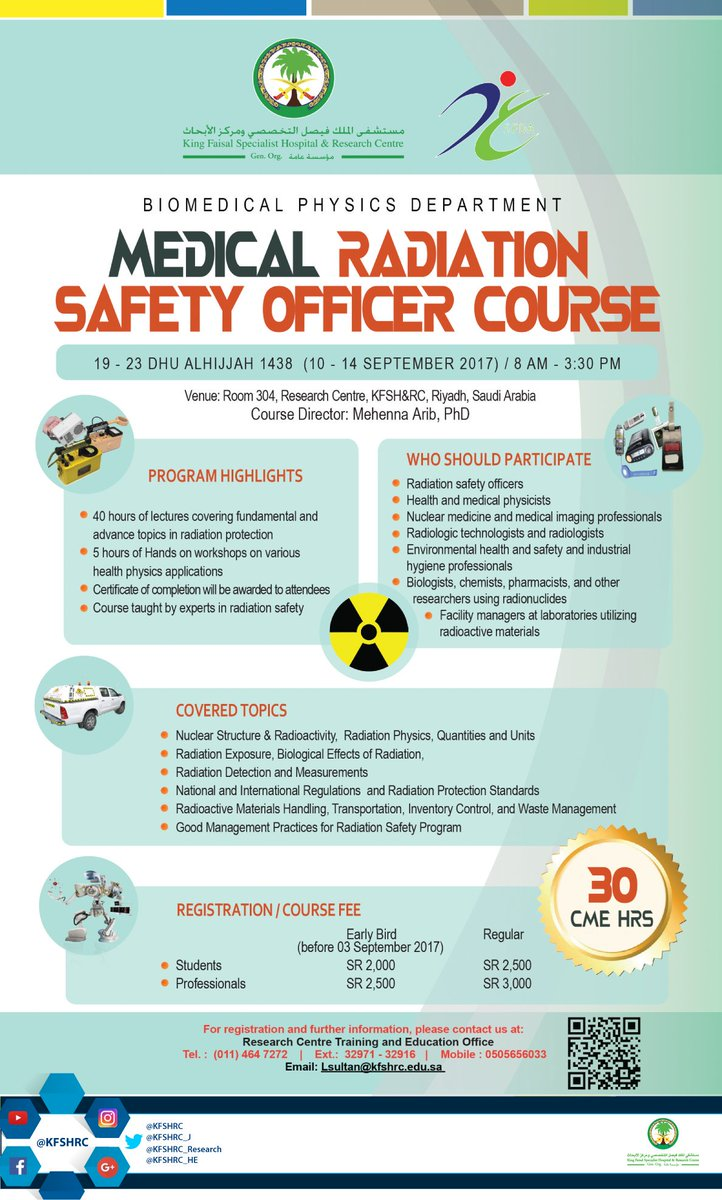 On Twitter Medical Relation Safety Officer Course
