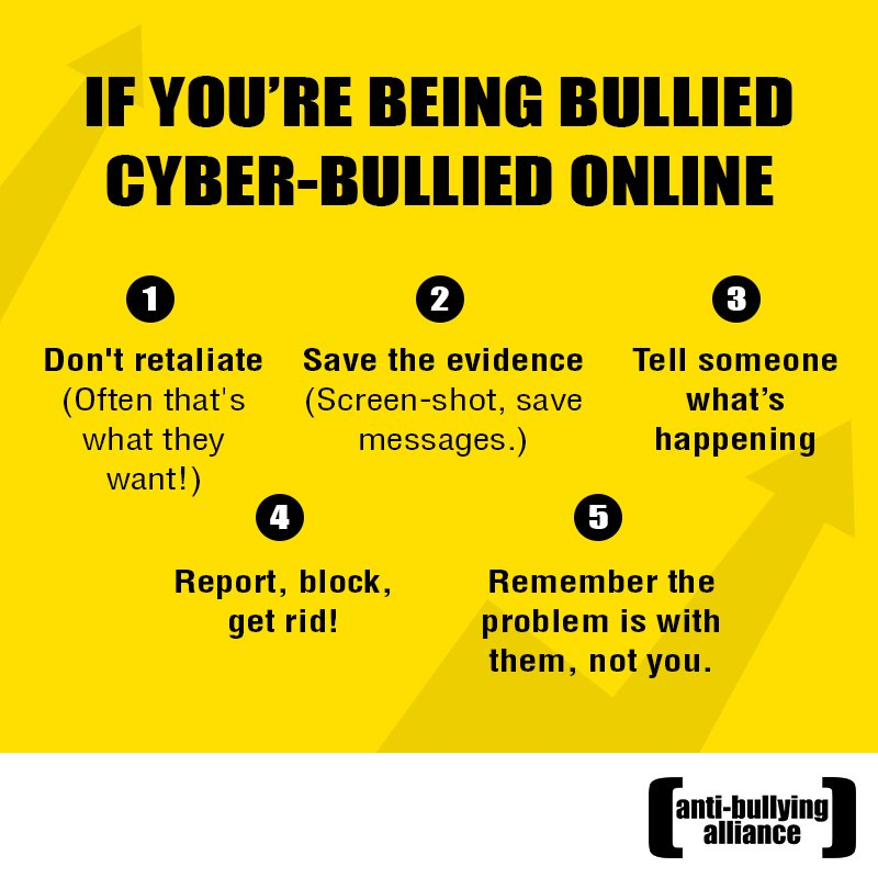 If you&#39;re being #bullied online, don&#39;t keep it to yourself. Here are 5 tips #cyberbullying #bullying<br>http://pic.twitter.com/Iysu1dmgGt