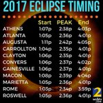 What time will you be able to see the #SolarEclipse ? Be safe and don't forget your glasses!