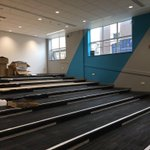 The new #lecture #theatre @LancsHealthAcad @LancsHospitals nearing completion @CRTFlooring #D&G @Interface_UK