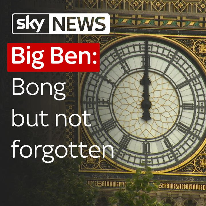 Hundreds gathered to watch #BigBen fall silent for controversial renov...