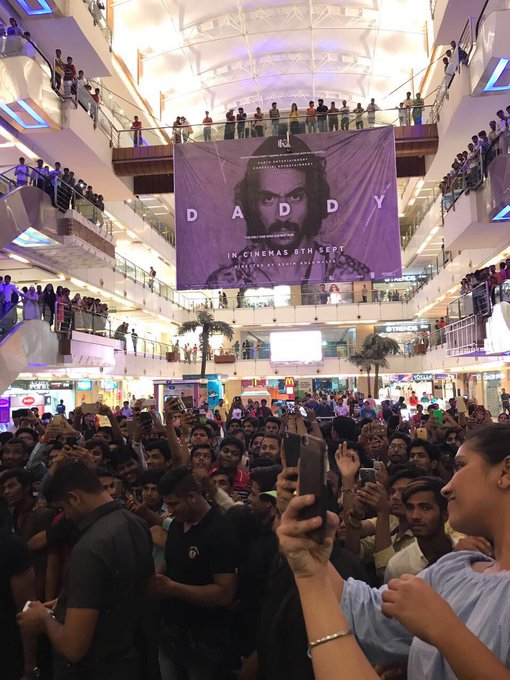 Indore bhaut bhaut dhanyawad. Thank you #C21 Mall for this amazing drop down. See you in theatres sept 8th SALAAM #Daddy #indorerocks https://t.co/Irhuox5BDl