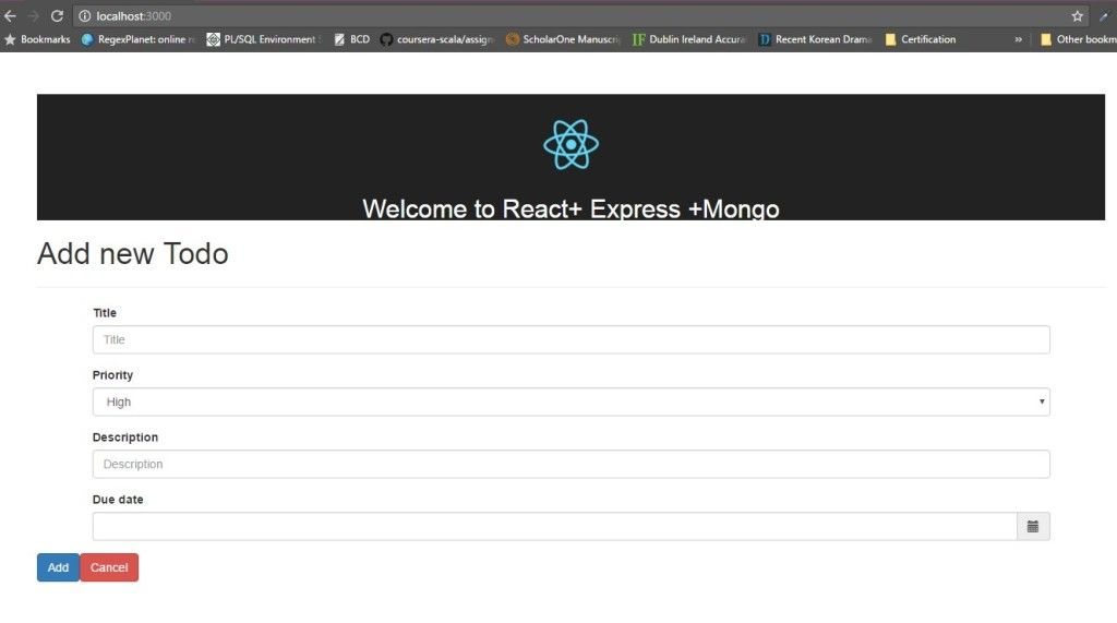 Your First App using #React, #Express and #MongoDB  https:// buff.ly/2v4DwlP  &nbsp;   #javascript #Programming #coding #appdevelopment<br>http://pic.twitter.com/XWbCOlBdxW