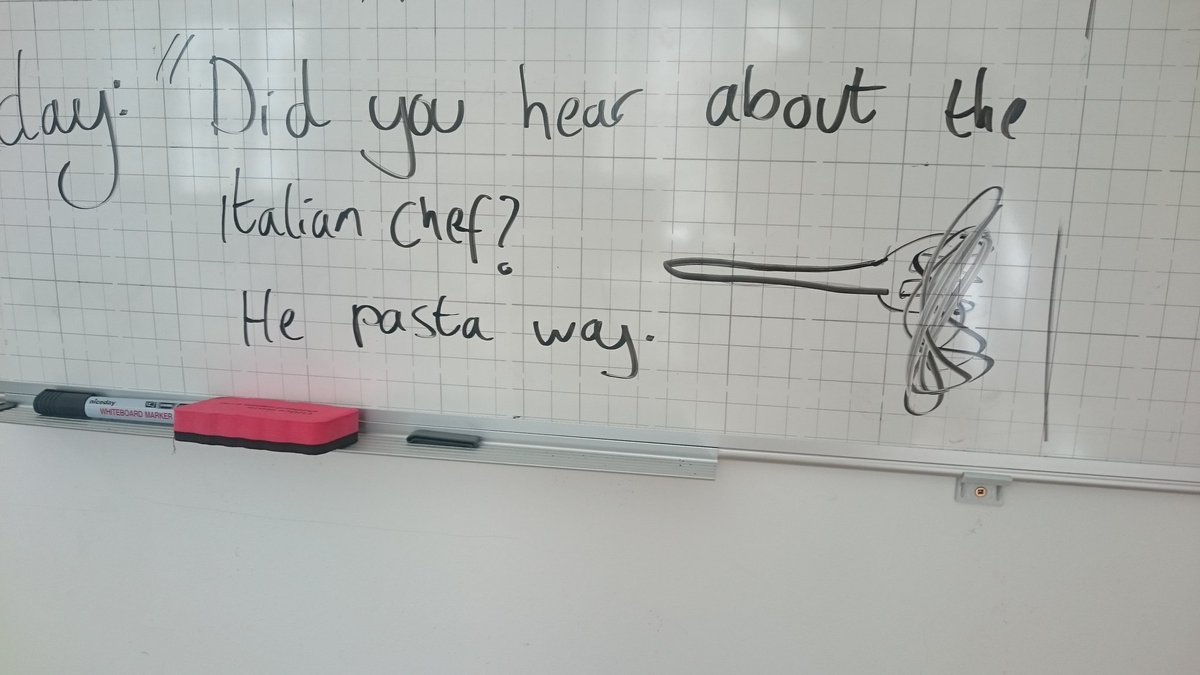 Today's whiteboard antics. Complete with doodle. https://t.co/gppjU7OR...